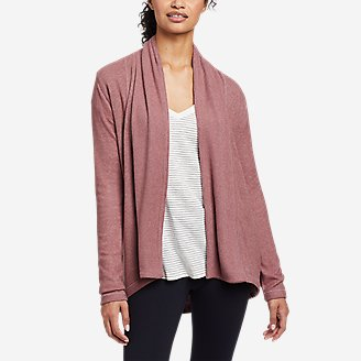 Women's Mixed-Stitch Wrap in Pink