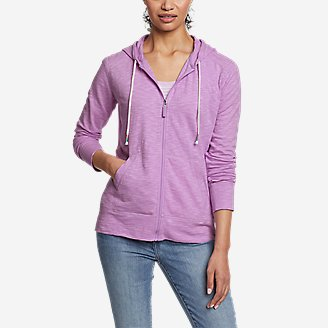 Women's Legend Wash Slub Updated Full-Zip Hoodie in Purple