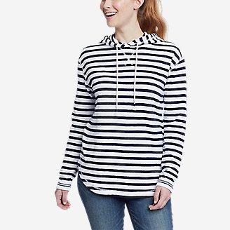 Women's Safari Duofold Pullover -Stripe in Blue