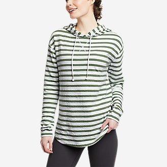 Women's Safari Duofold Pullover -Stripe in Green