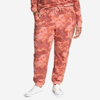 Women's Cozy Camp Fleece Jogger Pants - Print in Blue