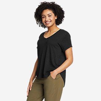 Women's Gate Check Short-Sleeve T-Shirt in Black