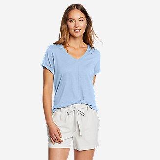 Women's Gate Check Short-Sleeve T-Shirt in Blue