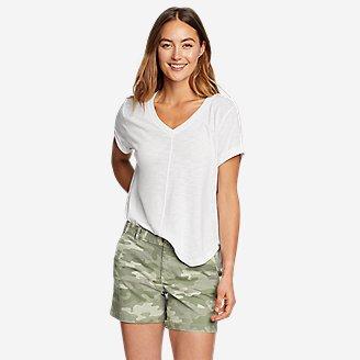 Women's Gate Check Short-Sleeve T-Shirt in White