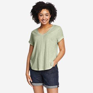 Women's Gate Check Short-Sleeve T-Shirt in Green