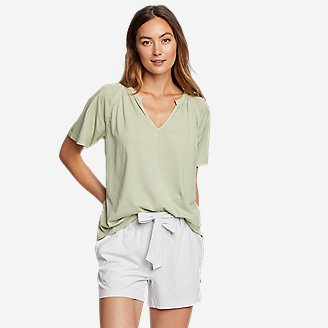 Women's Ophelia Short-Sleeve Lace T-Shirt in Green