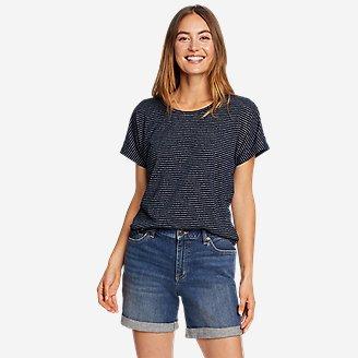 Women's Solstice Slub Dolman-Sleeve T-Shirt in Blue