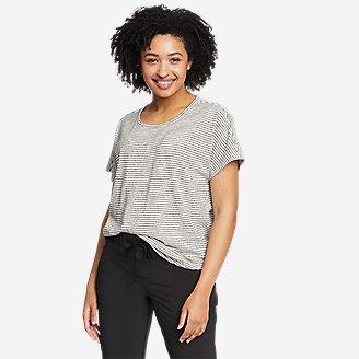 Women's Solstice Slub Dolman-Sleeve T-Shirt in White