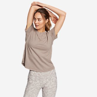 Women's Mineral Wash Novelty T-Shirt in Gray