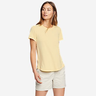 Women's Mineral Wash Novelty T-Shirt in Yellow