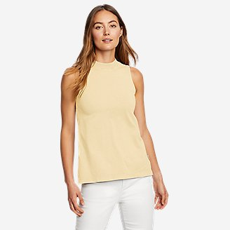 Women's Mineral Wash Novelty Tank Top in Yellow