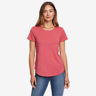 Women's Favorite Short-Sleeve Shirttail T-Shirt in Red