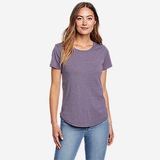 Women's Favorite Short-Sleeve Shirttail T-Shirt in Purple