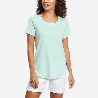 Women's Favorite Short-Sleeve Shirttail T-Shirt in Green