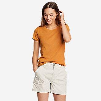 Women's Favorite Short-Sleeve Shirttail T-Shirt in Yellow