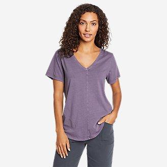 Women's Ophelia Short-Sleeve V-Neck T-Shirt in Purple