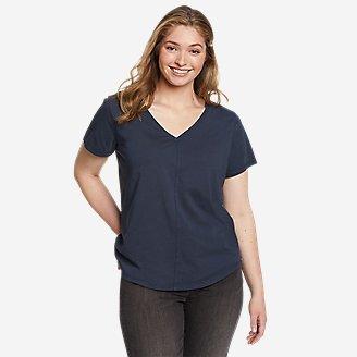 Women's Ophelia Short-Sleeve V-Neck T-Shirt in Blue
