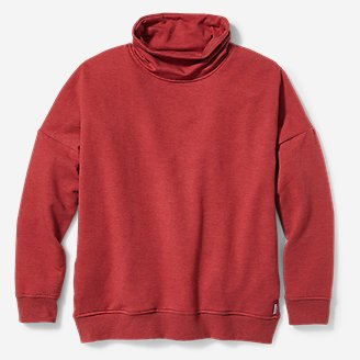 Women's Cozy Camp Lounge Funnel-Neck in Red