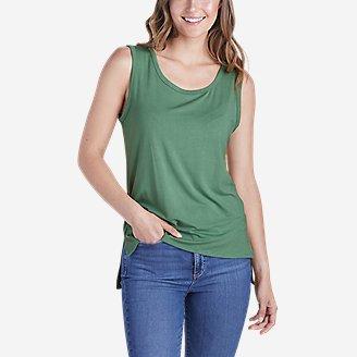 Women's Easy Tunic Tank Top in Green