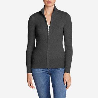 Women's Medina Zip Cardigan Sweater in Gray