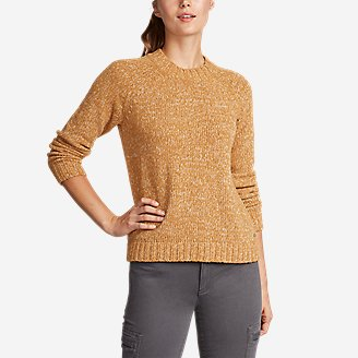 Women's Lounge Around Pullover Crew Sweater in Yellow