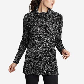 Women's Lounge Around Turtleneck Sweater in Black