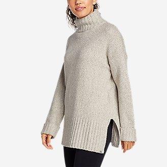 Women's Lounge Funnel-Neck Sweater in Gray