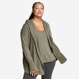 Women's Engage Wrap Sweater in Green