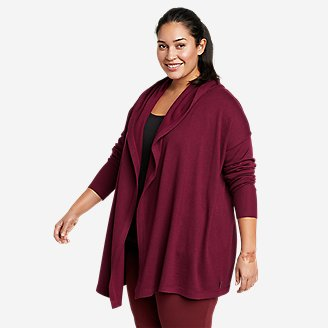 Women's Engage Wrap Sweater in Red