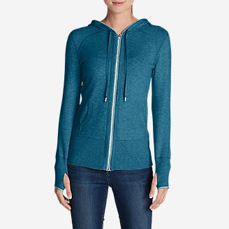 Women's Engage Full-Zip Hoodie Sweater in Blue