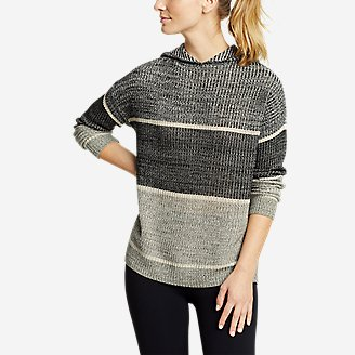 Women's Color-Blocked Pullover Sweater in Black