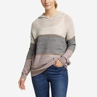 Women's Color-Blocked Pullover Sweater in Gray