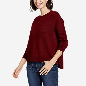 Women's Easy Crewneck Sweater - Solid in Red