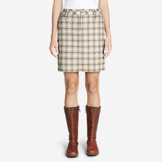 Women's Classic Wool-Blend Skirt - Pattern in Gray