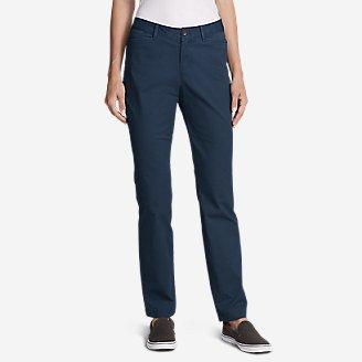 Women's Stretch Legend Wash Pants - Curvy Fit in Blue