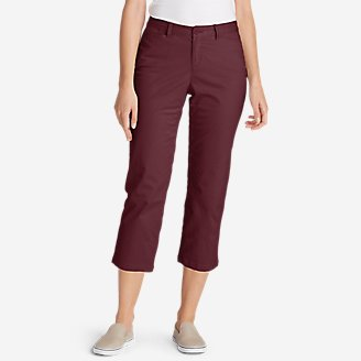 Women's Stretch Legend Wash Cropped Pants - Curvy Fit in Green
