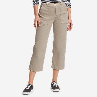 Women's Marina High-Rise Wide-Leg Utility Pants in Beige