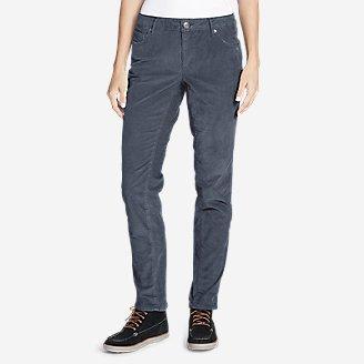 Women's Boyfriend Slim Leg Cord Pants in Blue