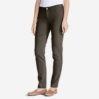 Women's Elysian Twill Slim Straight Jeans - Slightly Curvy in Beige