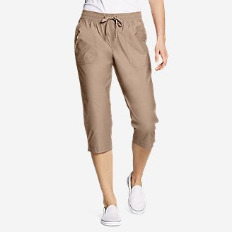 Women's Exploration Utility Crop Pants in Beige