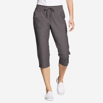 Women's Exploration Utility Crop Pants in Gray