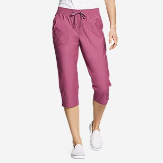 Women's Exploration Utility Crop Pants in Red