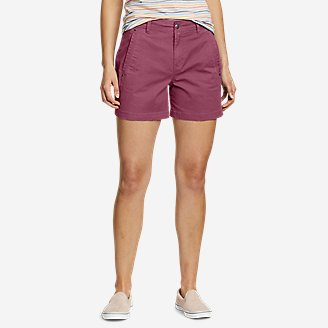 Women's Cityscape Shorts in Red