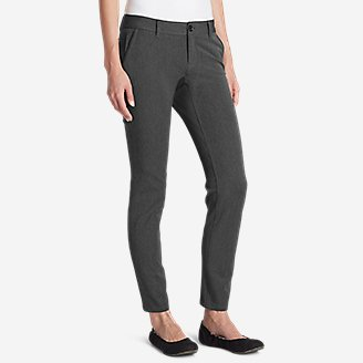Women's Travel Pants - Slightly Curvy in Gray