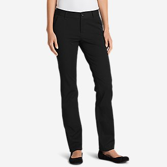 Women's Travel Pants - Slightly Curvy in Black