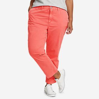Women's River Rock Ankle Pants in Red