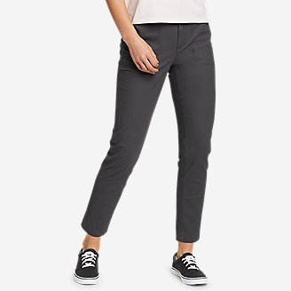 Women's Adventurer Stretch Ripstop Ankle Pants in Gray