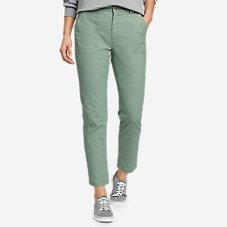 Women's Adventurer Stretch Ripstop Ankle Pants in Green