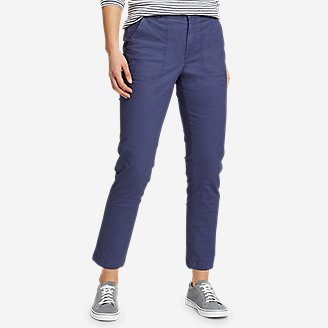 Women's Adventurer Stretch Ripstop Ankle Pants in Blue