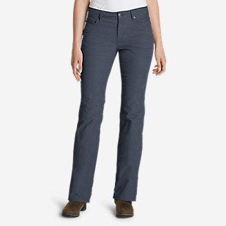 Women's Curvy Bootcut Cord Pants in Blue